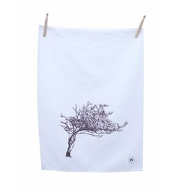 Windswept Hawthorn Tree Tea Towel