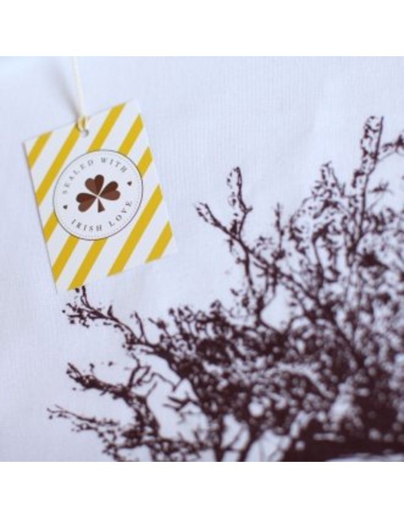 Sealed with Irish Love Windswept Hawthorn Tree Tea Towel