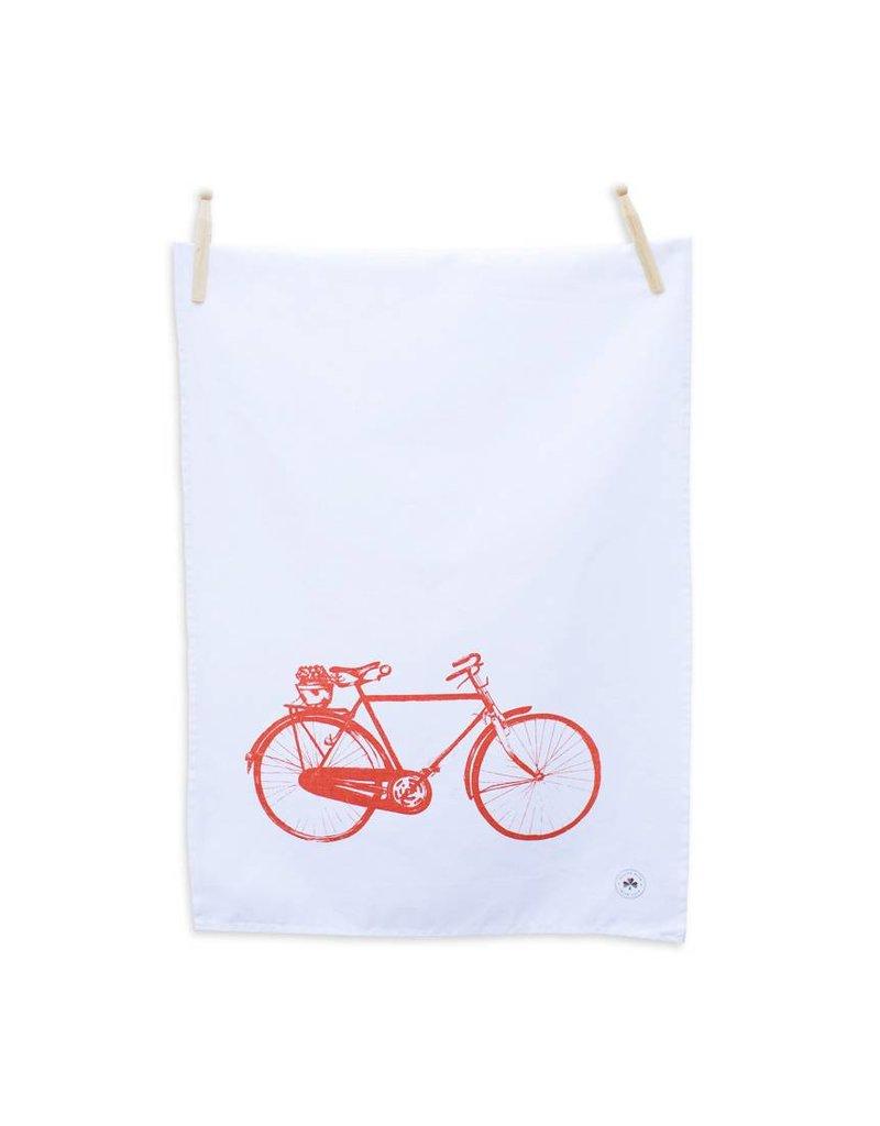 Sealed with Irish Love Old Irish Bicycle Tea Towel