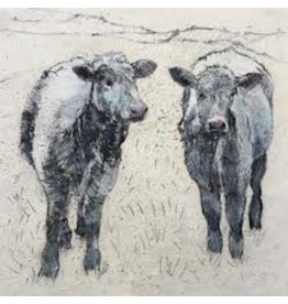 Annabel Langrish Annabel Langrish Cows Framed Print