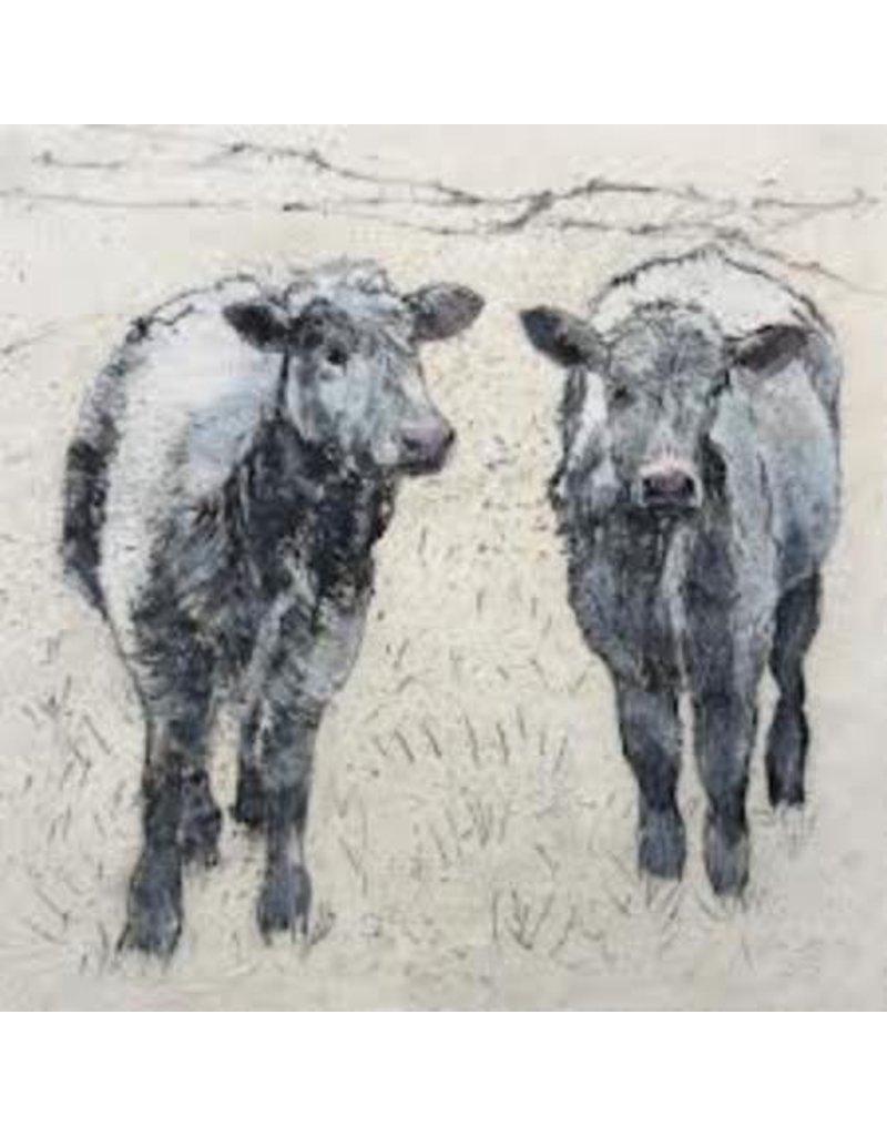 Annabel Langrish Cows Framed Print