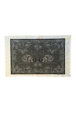 Clover Rua Swans Irish Lace Tea Towel