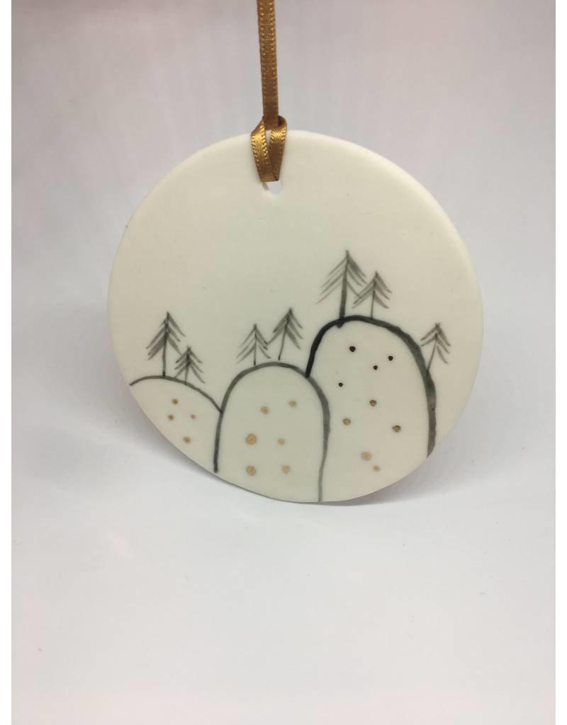 Porcelain Disc Trees  Christmas Decoration