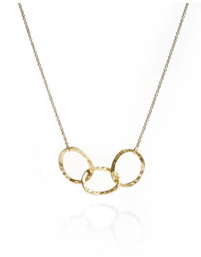 Gold Vermeil 3 Oval Link Necklace
