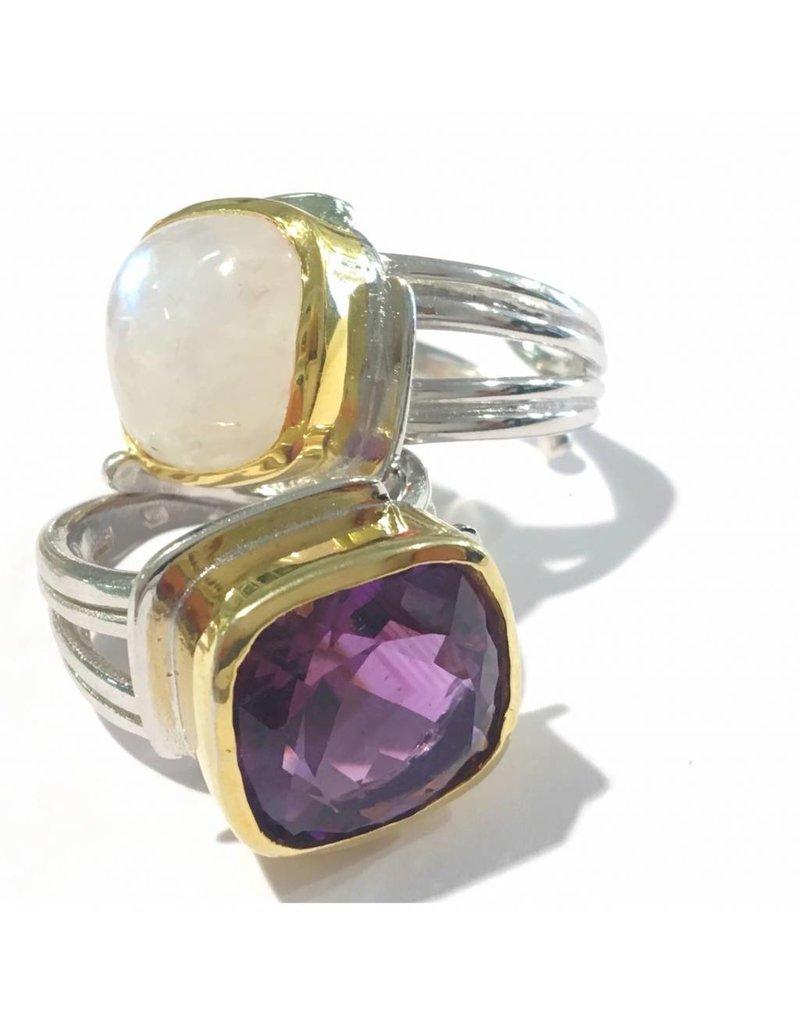 Gallardo and Blaine Art Deco Ring with Amethyst