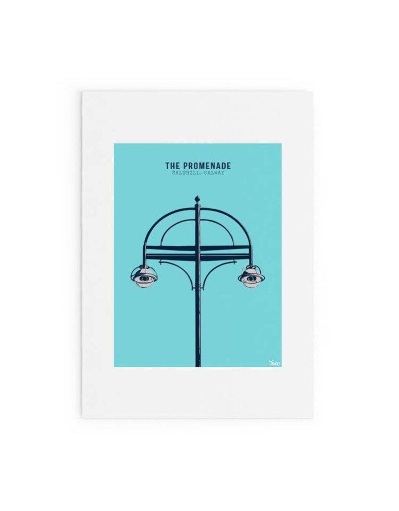 Jando Designs The Promenade, Salthill A4 Print Unframed