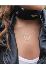Mary k Jewellery Gold Large 2 Circle Necklace