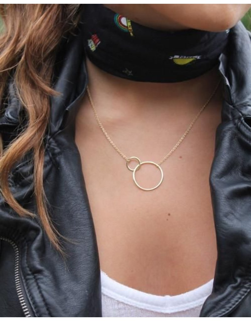 Mary k Jewellery Gold Vermeil Large 2 Circle Necklace