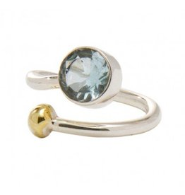 Honeysuckle Ring in Blue Topaz