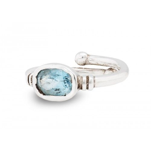 Senna Ring in Blue Topaz with Silver