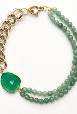 Malika Mint Druze Agate and Aventurine Necklace