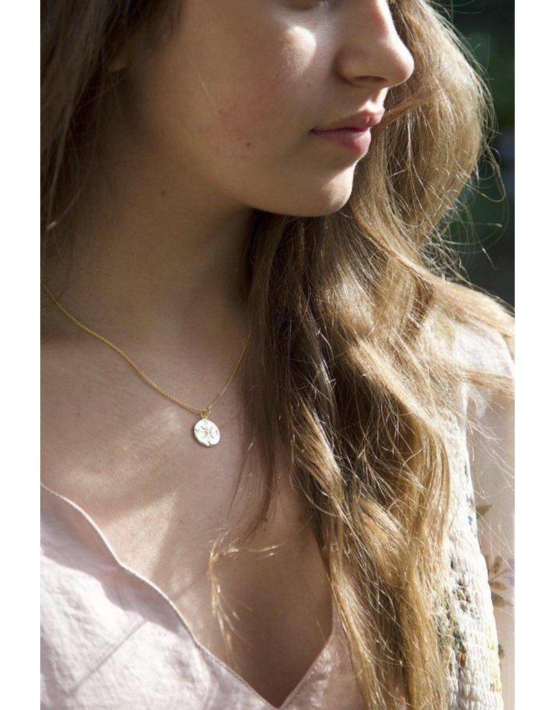 Gold Vermeil Compass Necklace