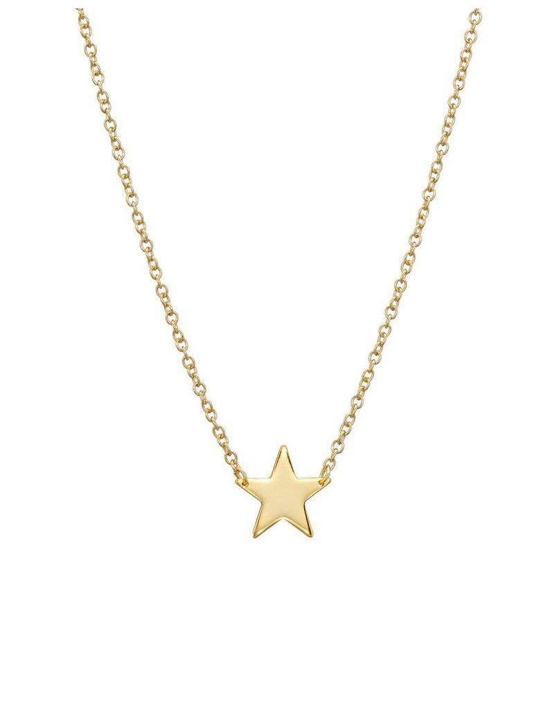 Gold Vermeil Polished Star Necklace