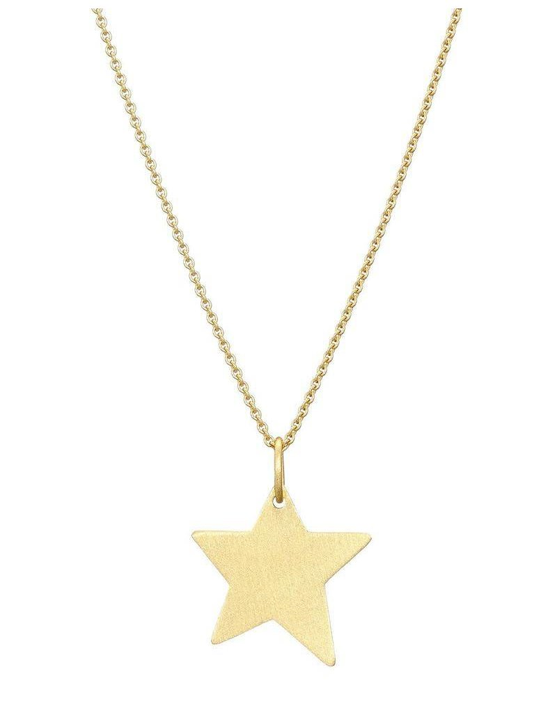 Mary k Jewellery Gold Brushed Vermeil Large Shooting Star Necklace
