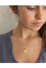 Mary k Jewellery Brushed Gold Shooting Star Necklace
