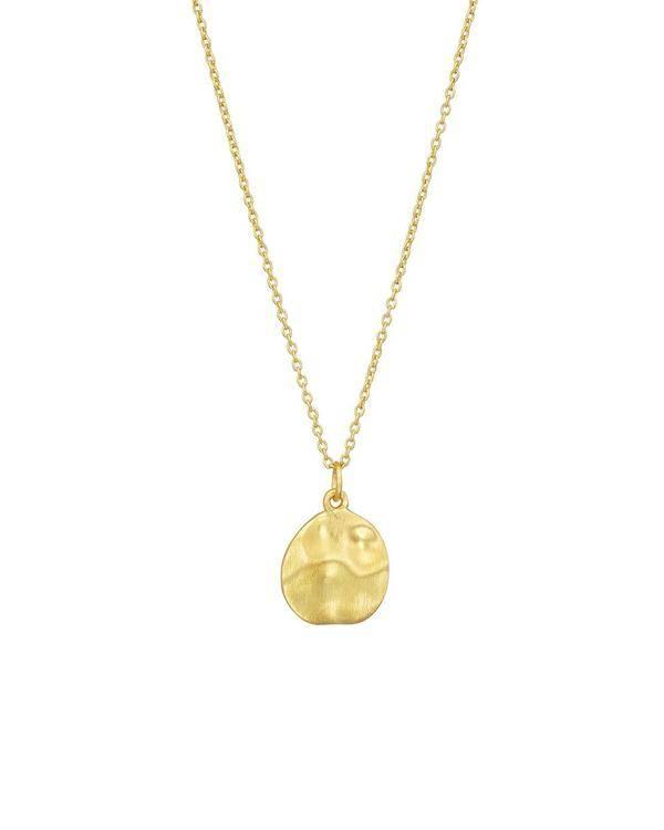 Gold vermeil cornflake necklace