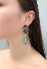 Lisbet Green Druzy & Amazonite Earrings