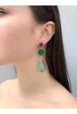 Lisbet Green Druzy & Amazonite Earrings