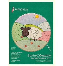 Pippa Blue Spring Meadow Embroidery Kit