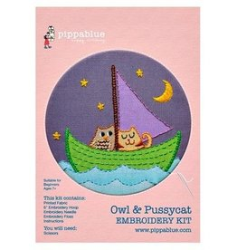 Pippa Blue Owl and Pussycat Embroidery Kit