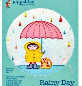 Pippa Blue Rainy Day Embroidery Kit