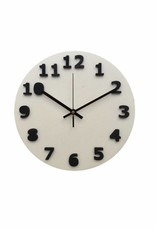 White & Black Shadow Clock