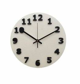 White & Black Shadow Clock