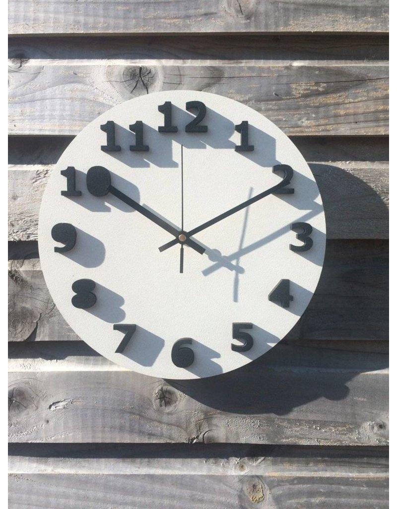 Blue Bridge Design White & Black Shadow Clock
