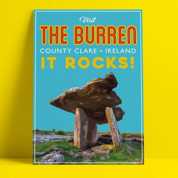Fintan Wall Design  Visit The Burren print A4