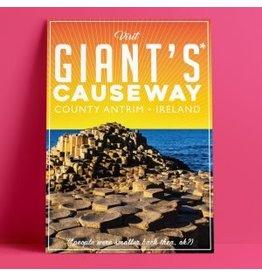 Fintan Wall Design Giants Causeway A4 Print
