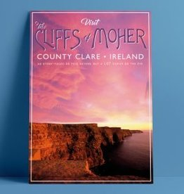 Fintan Wall Design Visit The Clifffs of Moher Print