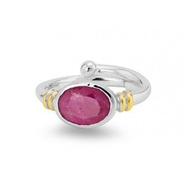 Senna Ring in Rough Ruby