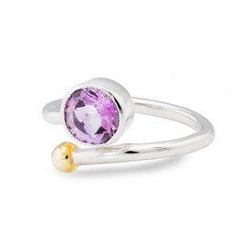 Gallardo and Blaine Honeysuckle Ring in Amethyst