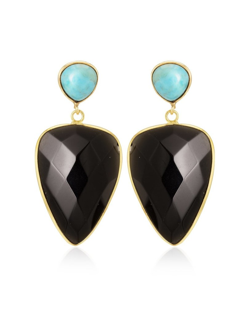 Ani Turquoise & Black Onyx Earrings