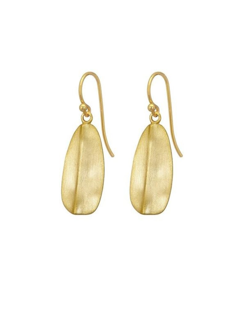Mary k Jewellery Gold Leaf Drop Earrings