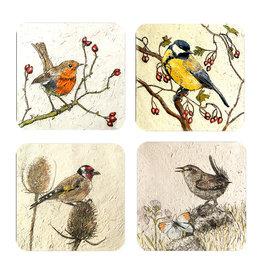 Irish Garden Birds Coaster Set