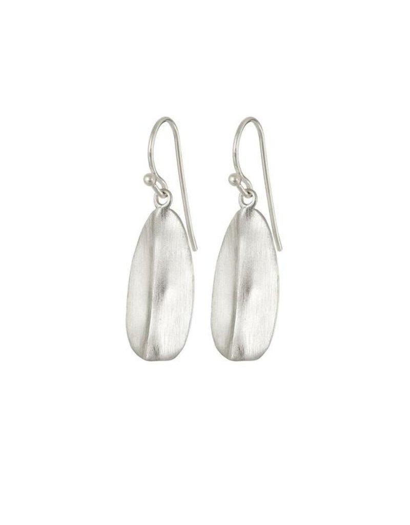 Mary k Jewellery Silver Leaf Drop Earrings
