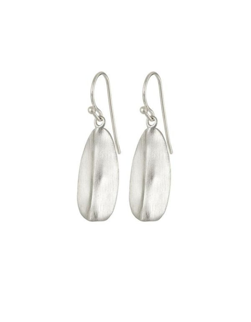 Mary k Jewellery Sterling Silver Leaf Shield Earrings