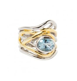 Mayhem Ring with Blue Topaz