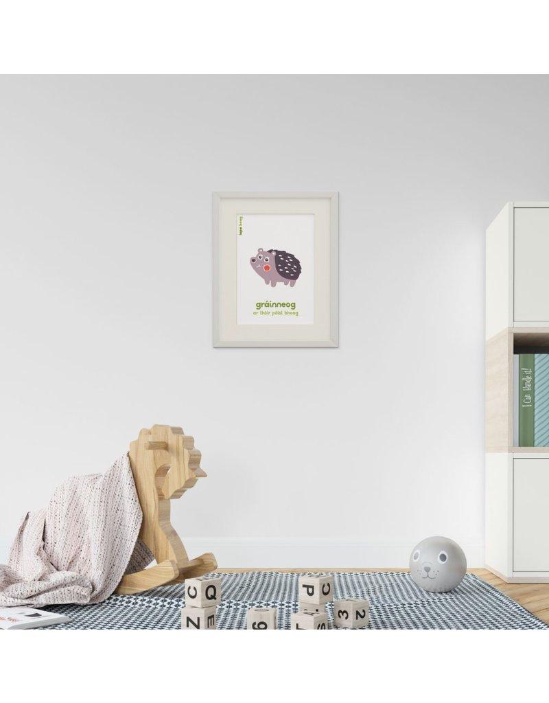 Lapa Beag Gráinneog-Hedgehog  A3 Print