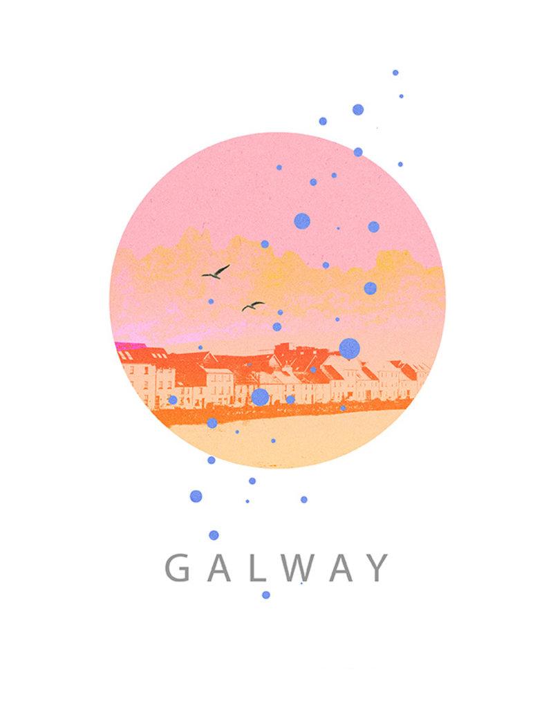 Galway - Long Walk Pink A3 Print