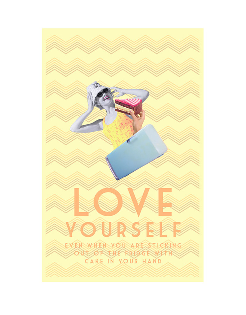 Vintage - Love Yourself A3 Print