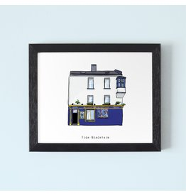 Cowfield Design Tigh Neachtains Galway Framed Print