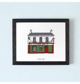 Cowfield Design The Crane Bar Framed Print