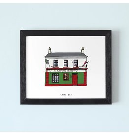 Cowfield Design The Crane Bar Galway Framed Print