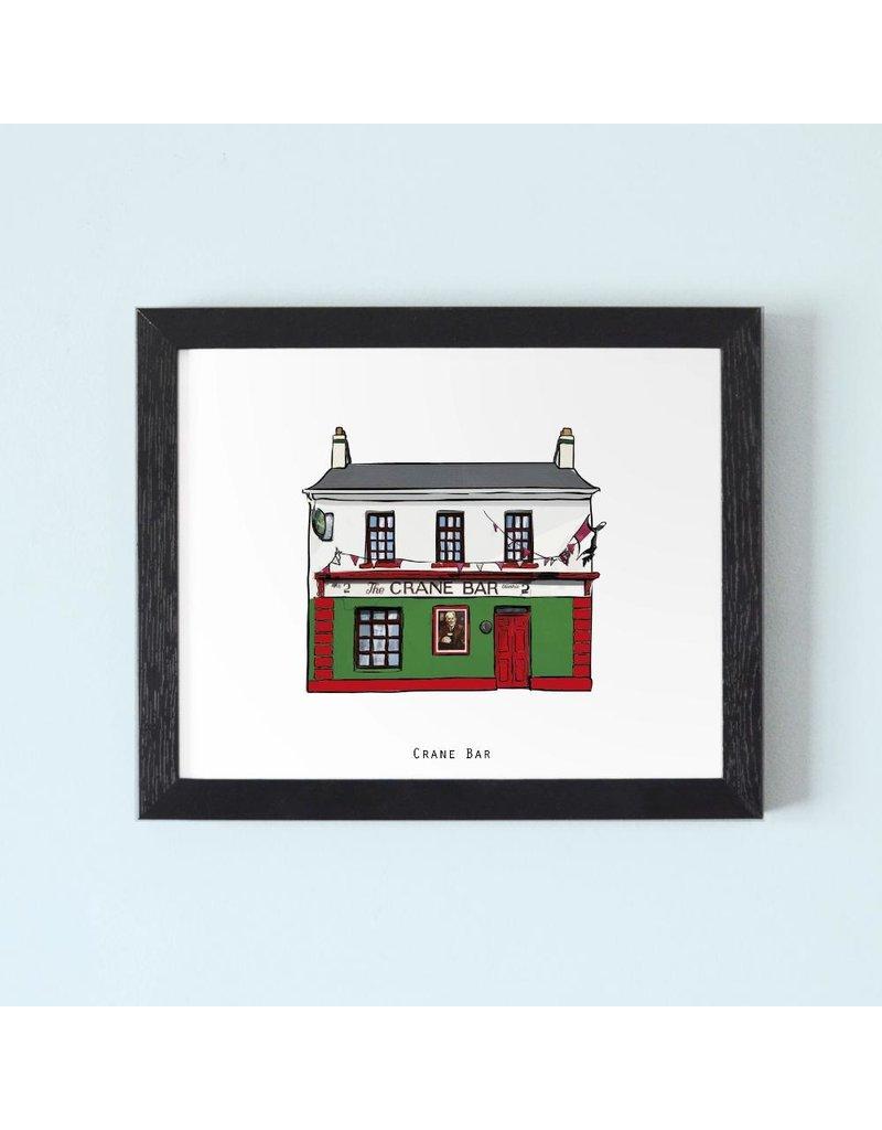 Cowfield Design The Crane Bar Galway Framed Print