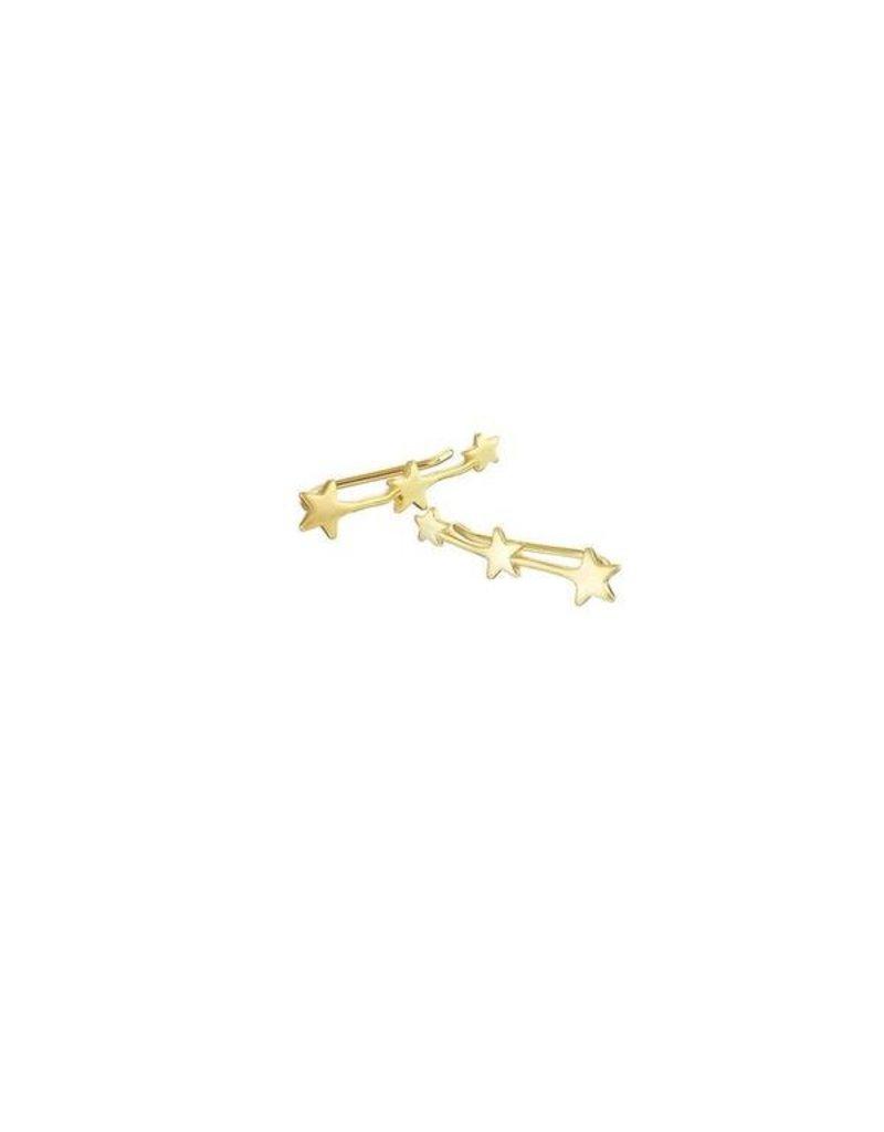 Mary k Jewellery Gold Shooting Climber Earrings