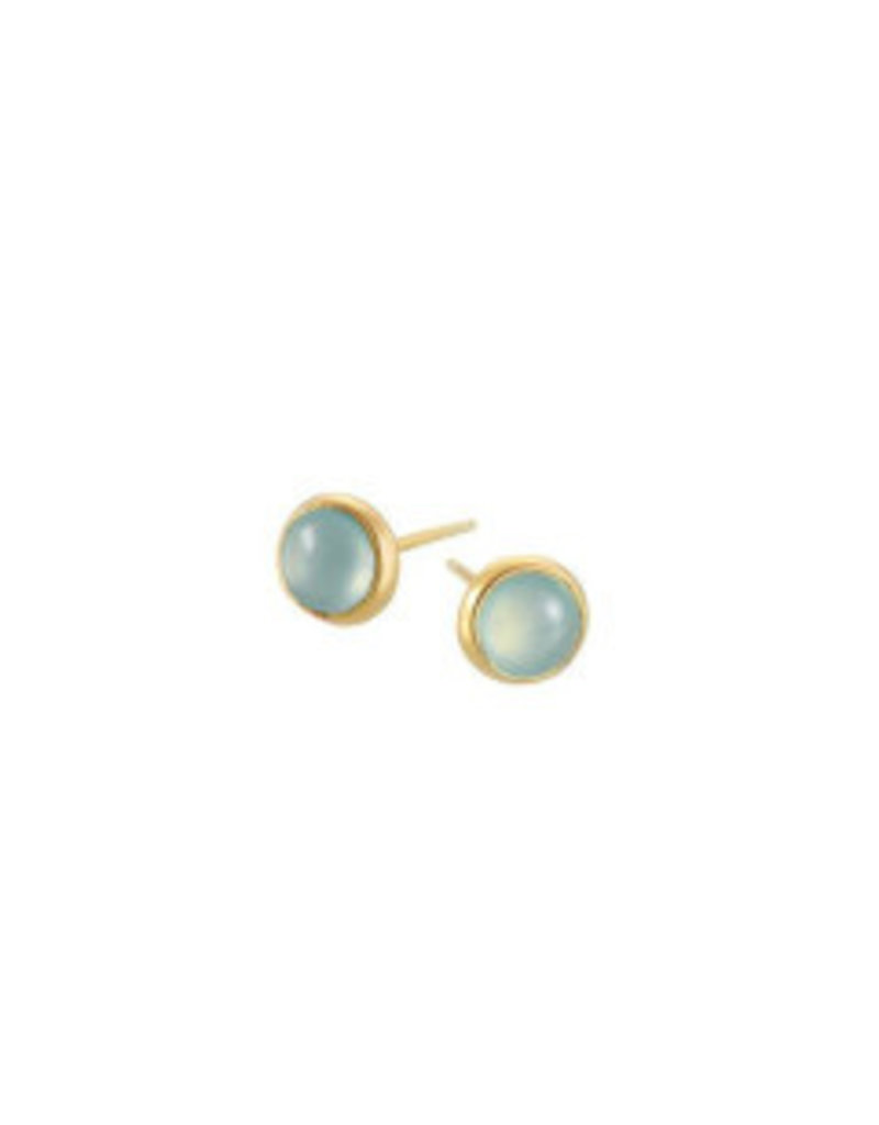 Mary k Jewellery Gold Aqua Stud Earrings