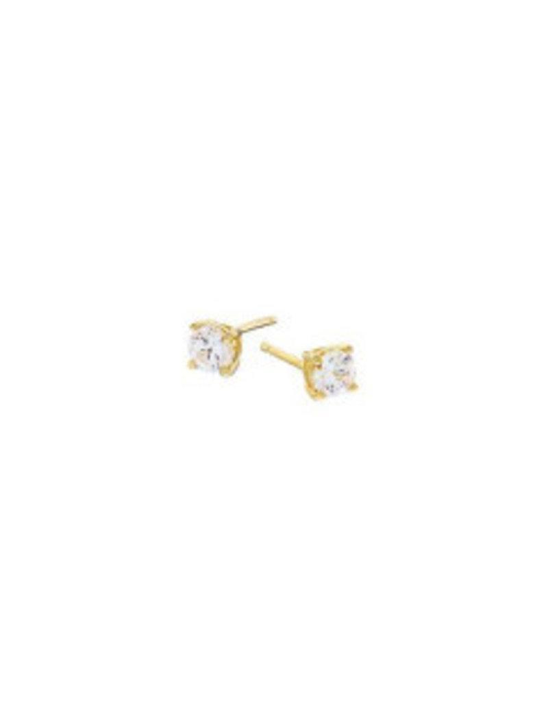 Mary k Jewellery Gold Cubic Zirconia Claw Stud Earrings