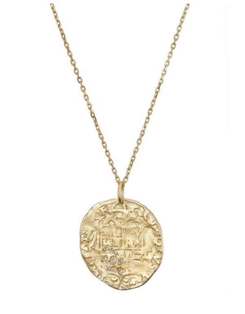 Large Gold Vermeil Coin Necklace